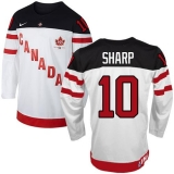 Olympic CA 10 Patrick Sharp White 100th Anniversary Stitched NHL Jersey