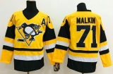 Pittsburgh Penguins #71 Evgeni Malkin Yellow Throwback Stitched NHL Jersey