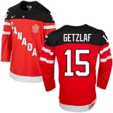 Olympic CA 15 Ryan Getzlaf Red 100th Anniversary Stitched NHL Jersey