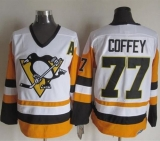 Pittsburgh Penguins #77 Paul Coffey White Black CCM Throwback Stitched NHL Jersey