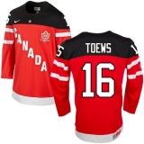 Olympic CA 16 Jonathan Toews Red 100th Anniversary Stitched NHL Jersey