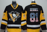 Pittsburgh Penguins #81 Phil Kessel Black Alternate USA Flag Fashion Stitched NHL Jersey