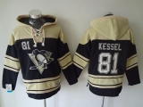 Pittsburgh Penguins #81 Phil Kessel Black Sawyer Hooded Sweatshirt Stitched NHL Jersey