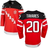 Olympic CA 20 John Tavares Red 100th Anniversary Stitched NHL Jersey