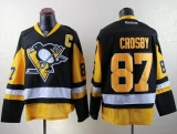 Pittsburgh Penguins #87 Sidney Crosby Black Alternate Stitched NHL Jersey