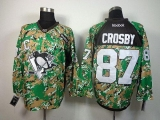 Pittsburgh Penguins #87 Sidney Crosby Camo Veterans Day Practice Stitched NHL Jersey