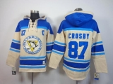 Pittsburgh Penguins #87 Sidney Crosby Cream Sawyer Hooded Sweatshirt Stitched NHL Jersey