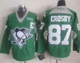 Pittsburgh Penguins #87 Sidney Crosby Green Practice Stitched NHL Jersey