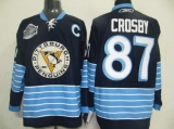 Pittsburgh Penguins #87 Sidney Crosby Stitched Dark Blue 2011 Winter Classic Vintage NHL Jersey