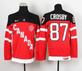 Olympic CA 87 Sidney Crosby Red 100th Anniversary Stitched NHL Jersey