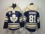 Toronto Maple Leafs #81 Phil Kessel Blue Sawyer Hooded Sweatshirt Stitched NHL Jersey