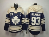 Toronto Maple Leafs #93 Doug Gilmour Blue Sawyer Hooded Sweatshirt Stitched NHL Jersey
