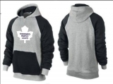 Toronto Maple Leafs Pullover Hoodie Grey & Black