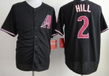 Arizona Diamondbacks #2 Aaron Hill Black Cool Base Stitched MLB Jersey