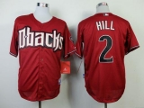 Arizona Diamondbacks #2 Aaron Hill Red Cool Base Stitched MLB Jersey