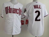 Arizona Diamondbacks #2 Aaron Hill White Cool Base Stitched MLB Jersey