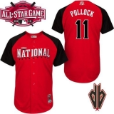 Arizona Diamondbacks #11 AJ Pollock Red 2015 All-Star National League Stitched MLB Jersey