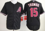 Arizona Diamondbacks #15 Mark Trumbo Black Cool Base Stitched MLB Jersey