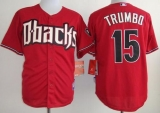 Arizona Diamondbacks #15 Mark Trumbo Red Cool Base Stitched MLB Jersey