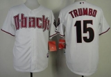 Arizona Diamondbacks #15 Mark Trumbo White Cool Base Stitched MLB Jersey