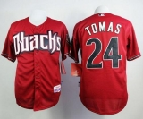 Arizona Diamondbacks #24 Yasmany Tomas Red Cool Base Stitched MLB Jersey