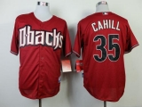 Arizona Diamondbacks #35 Trevor Cahill Red Cool Base Stitched MLB Jersey