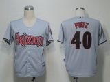 Arizona Diamondbacks #40 JJ Putz Grey Cool Base Stitched MLB Jersey