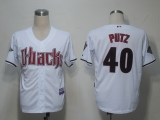 Arizona Diamondbacks #40 JJ Putz White Cool Base Stitched MLB Jersey