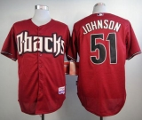 Arizona Diamondbacks #51 Randy Johnson Black Cool Base Stitched MLB Jersey