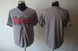 Arizona Diamondbacks Blank Grey Cool Base Stitched MLB Jersey
