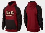 Arizona Diamondbacks Pullover Hoodie Burgundy Red & Black