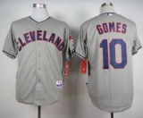 Cleveland Indians #10 Yan Gomes Grey Cool Base Stitched MLB Jersey