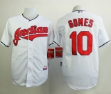 Cleveland Indians #10 Yan Gomes White Cool Base Stitched MLB Jersey