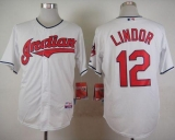 Cleveland Indians #12 Francisco Lindor White Cool Base Stitched MLB Jersey