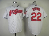Cleveland Indians #22 Jason Kipnis White Cool Base Stitched MLB Jersey