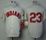 Cleveland Indians #23 Michael Brantley Cream Alternate 2 Cool Base Stitched MLB Jersey