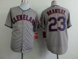 Cleveland Indians #23 Michael Brantley Grey Cool Base Stitched MLB Jersey