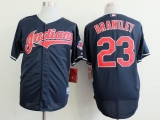 Cleveland Indians #23 Michael Brantley Navy Blue Cool Base Stitched MLB Jersey