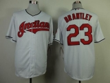 Cleveland Indians #23 Michael Brantley White Cool Base Stitched MLB Jersey