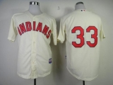 Cleveland Indians #33 Nick Swisher Cream Cool Base Stitched MLB Jersey