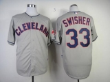 Cleveland Indians #33 Nick Swisher Grey Cool Base Stitched MLB Jersey
