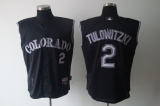 Colorado Rockies #2 Troy Tulowitzki Black Vest Style Stitched MLB Jersey