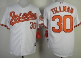 Baltimore Orioles #30 Chris Tillman White Cool Base Stitched MLB Jersey
