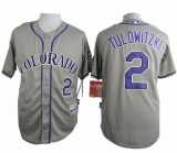 Colorado Rockies #2 Troy Tulowitzki Grey Cool Base Stitched MLB Jersey