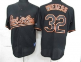 Baltimore Orioles #32 Matt Wieters Black Fashion Stitched MLB Jersey