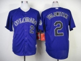 Colorado Rockies #2 Troy Tulowitzki Purple Cool Base Stitched MLB Jersey