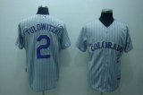 Colorado Rockies #2 Troy Tulowitzki Stitched Grey MLB Jersey