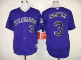 Colorado Rockies #3 Michael Cuddyer Purple Cool Base Stitched MLB Jersey
