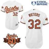 Baltimore Orioles #32 Matt Wieters White Cool Base Stitched MLB Jersey