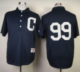 Cleveland Indians #99 Ricky Vaughn Navy Blue 1902 Turn Back The Clock Stitched MLB Jersey